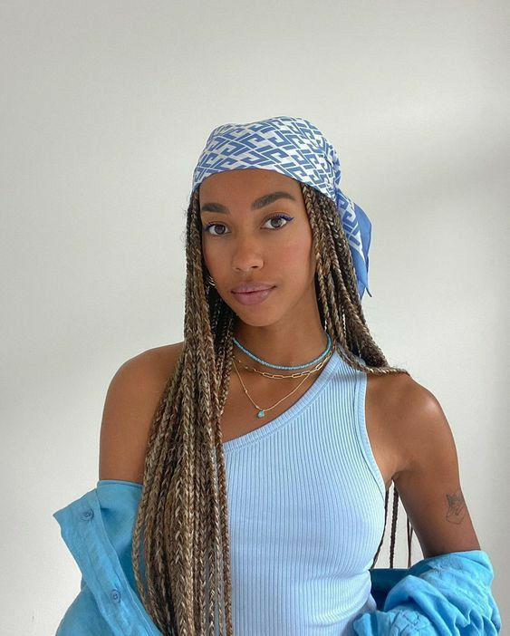 how to style box braids easily diy