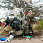 Panic as Army Chopper Crashes in Kajiado and Bursts into Flames